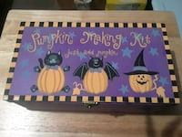 Pumpkin making kit in wooden box