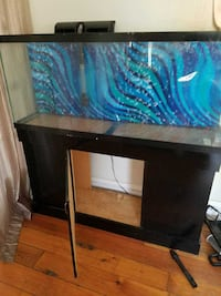 Letgo big fish tank with stand and doubl in kenosha wi for Double fish tank stand