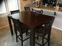 Counter Height Table and 6 Chairs Mesa, 85207