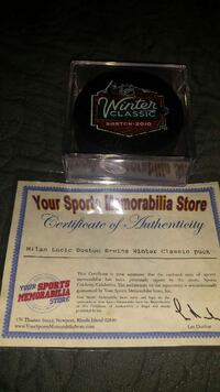 Milan Lucic signed & authenticated puck