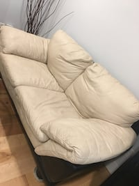 white leather 3-seat sofa Vancouver, V6S
