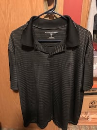 Black and grey striped polo shirt Mooresburg, 37811
