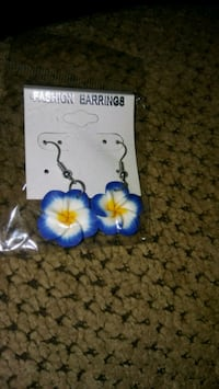 pair of blue-and-white earrings Greeneville, 37743