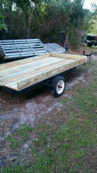 brown and white utility trailer Palm Bay, 32909