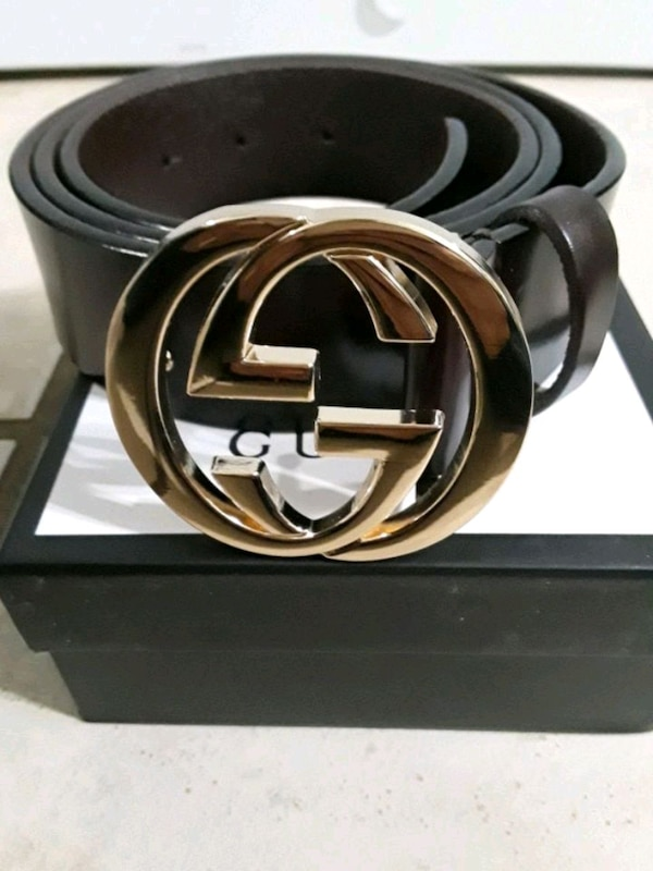 84032f0e786 Used black leather Gucci belt with box for sale in Auburn - letgo