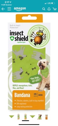 Insect shield bandana protect your dog from ticks  North Reading, 01864