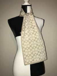 Coach Winter Scarf (Cream/Gold) Milton, L9T 4K1
