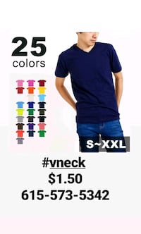 Vnecks $1.50 wholesale clothing