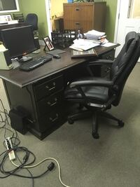 Wooden office desks.  Cherry, mahoghany, and others. Statham, 30666