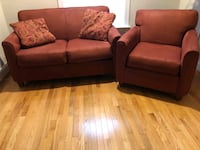 Microfiber loveseat and chair Bethesda, 20817