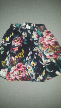 Abercrombie & Fitch Floral Skate Skirt