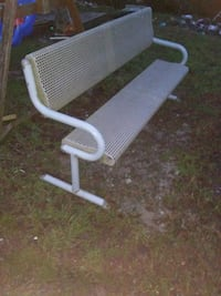 Metal 4 person bench