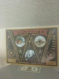 Vintage Winchester repeating Arms Company tin sign Oregon City, 97045