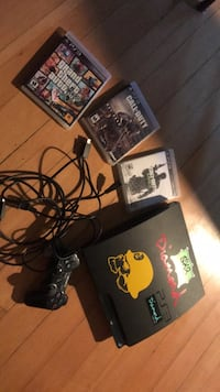 Black sony ps3 game console with games and 1 controller  Winnipeg, R2C 0P8