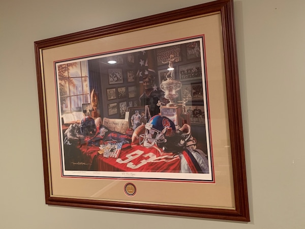 """""""OLE MISS LEGACY"""" Daniel Moore Framed and Numbered Lithograph Print. 0d75664e-e356-41f1-a7c9-8077467e8bed"""
