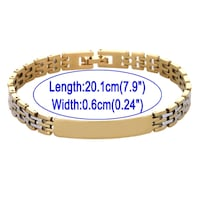 18K Gold Fill Two Tone Stainless Steel Clasp Bracelet 3 Model London, N6P 1P6