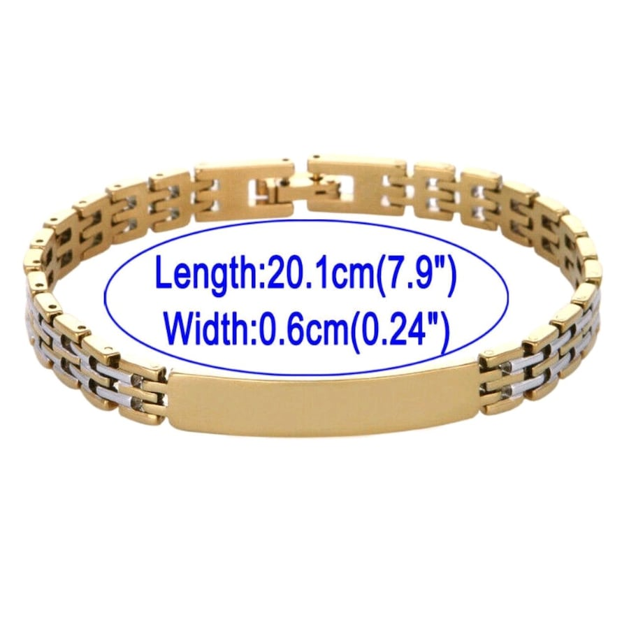 18K Gold Fill Two Tone Stainless Steel Clasp Bracelet 3 Model