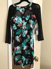 black, green, and pink floral long sleeve dress Los Angeles, 90004