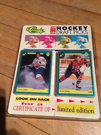 Classic 1991 hockey draft pick trading card collection