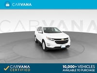 2018 Chevy Chevrolet Equinox suv LT Sport Utility 4D White Brentwood