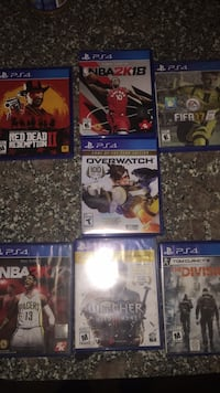 four assorted PS4 game cases Toronto, M3H 4N9
