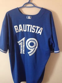 blue and grey Bautista 19 jersey shirt 1163 km