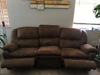 brown leather 3-seat recliner sofa OVIEDO