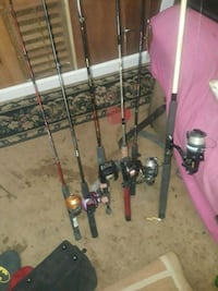 Asirtment of  fishing rods  North Augusta, 29860