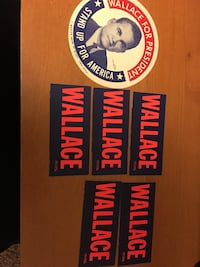 1968 presidential stickers for Wallace Maryland Heights, 63043