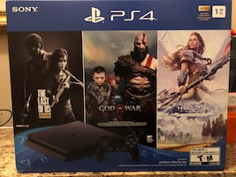 PS4 1TB Jet Black Bundle - Brand New Sealed