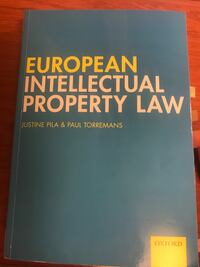 EUROPEAN IP LAW by Justin Pila