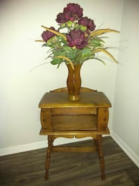 Antique side table/magazine holder