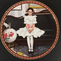 round red girl in white dress print Norman Rockwell decorative plate Brentwood Bay, V8M 1A3
