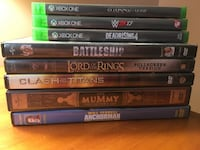 Assorted xbox 360 game cases Chester, 10918