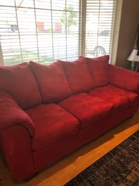 red fabric 3-seat sofa Stillwater, 74074