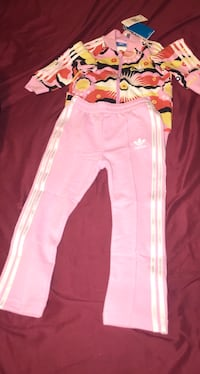 pink and white Adidas track pants Camden, 19934