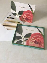 7pk Kate Spade thank you cards- blank inside