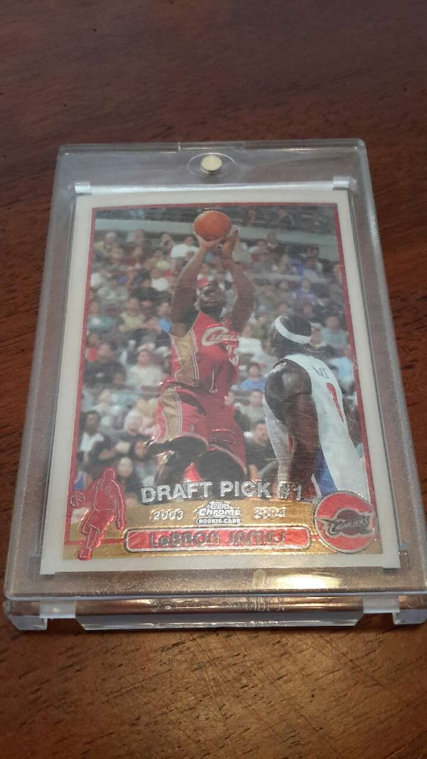 Topps Chrome Lebron James Rookie Card
