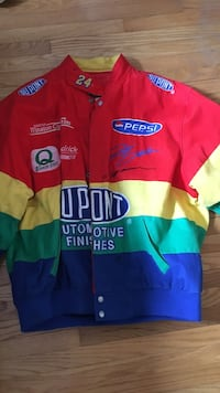 Jeff Gordon *REAL AUTOGRAPH* retro jacket