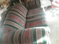 brown, green, and red stripe sofa chair Stockton, 95205