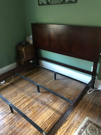 Queen size bed frame and headboard  Rochester, 14613