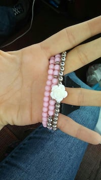 beaded pink and silver-colored jewelry Norcross, 30071