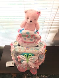 Tiered diaper cake