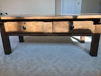 rectangular brown wooden coffee table STERLING