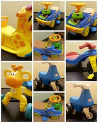 children's ride-on toy lot