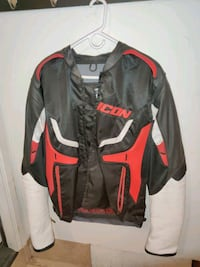 Men's Motorcycle Jacket, Icon Compound Hybrid Leather Textile Size L