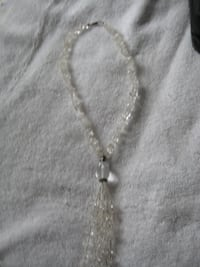 Necklace, made of  clear  natural stone (not sure what type of stone)
