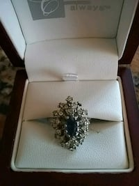 silver and diamond ring in box College Park, 20740