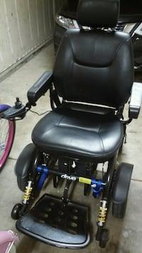 black leather powered wheelchair Arcade, 95864