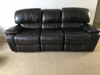Three Seat Leather Recliner Couch Buffalo, 14221